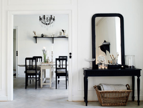 beautiful, black & white, design, house, interior