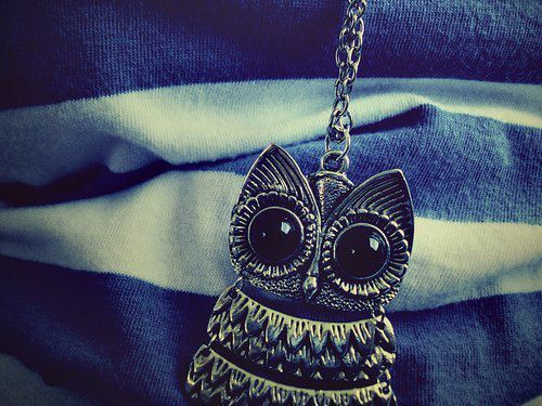beautiful, black, cute, fashion, lace, necklace, nice, owl, photo, photography, pretty, sweet