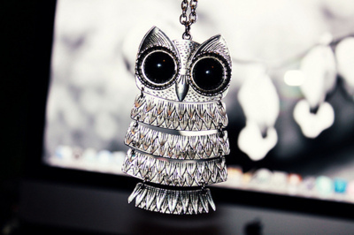 beautiful, black, cute, fashion, necklace, nice, owl, photo, photography, pretty, sweet