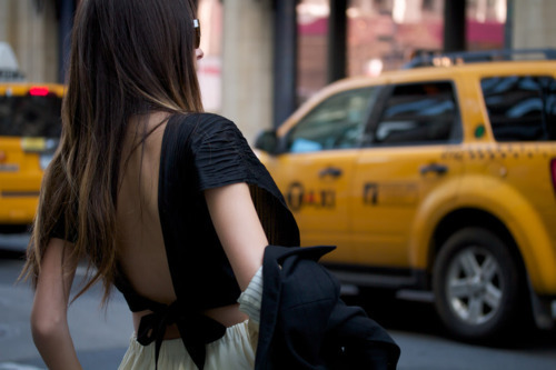 beautiful, black, fashion, girl, nyc, skinny, style, taxi, thin