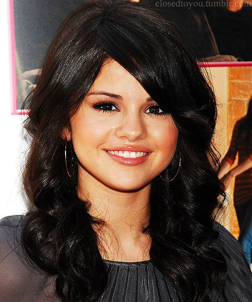 beautiful, black hair, brunette, girl, hair, perfect, selena gomez, wavy hair