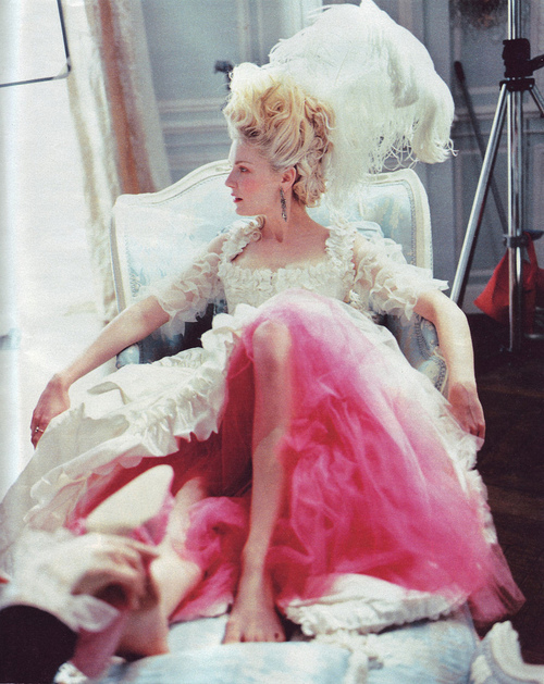 beautiful, blonde, dress, fashion, girl, hair, kirsten dunst, marie antoinette, vintage