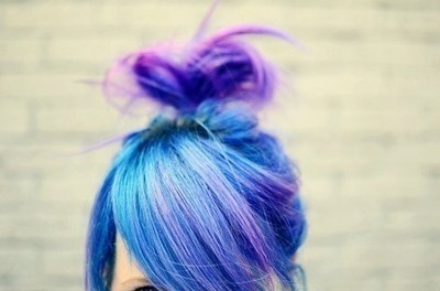 beautiful, blue hair, dyed hair, fashion, girl, hair, love, purple hair