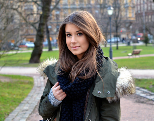 beautiful, brunette, cold, colors, fashion