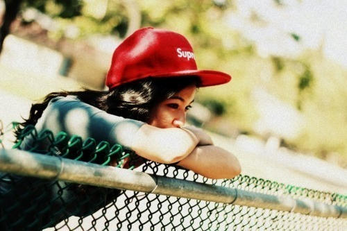beautiful, cap, girl, hair, summer, sun, supreme