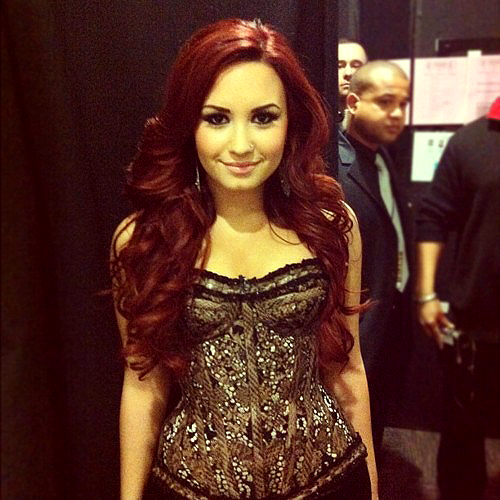 beautiful, celebrity, corset, demi, demi lovato