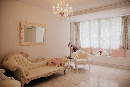 beautiful, chandelier, elegant, house, interior, mirror, mirrorvintage, pink, room