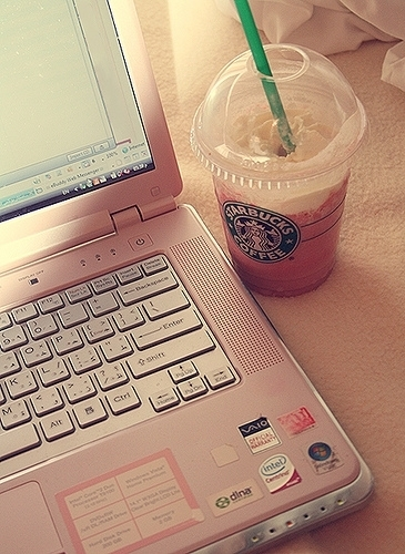 beautiful, computer, cute, photography, starbucks