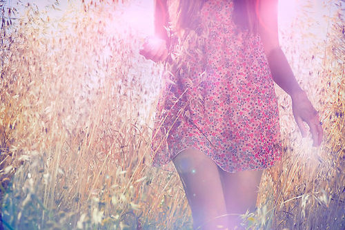 beautiful, cute, dress, field, fields, flowers, flowery, girl, girly, nature, pretty, sun