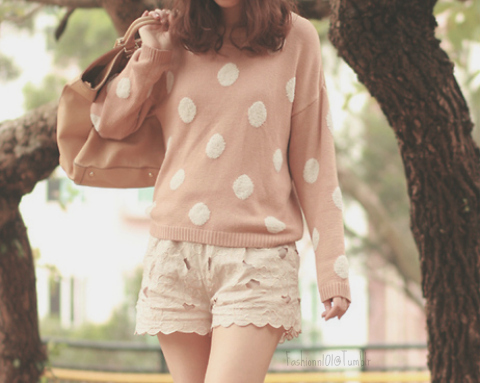beautiful, cute, fashion, girl, hair, love, lovely, photography, pink, pullover, skinny, thin, tree, vintage