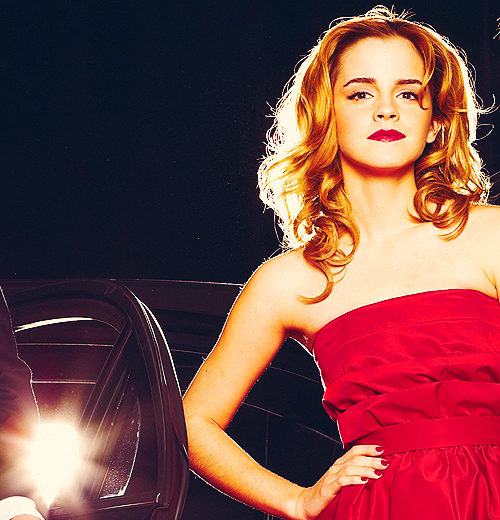 beautiful, emma watson, red