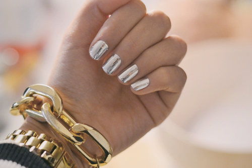 beautiful, fashion, gold, nail, nails, silver