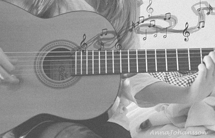 beautiful, guitar, love, music, notes