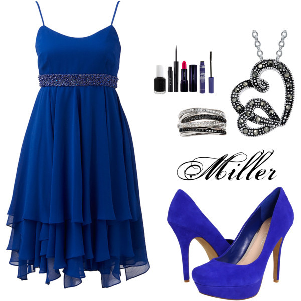beauty, black, blue, diamond, dress
