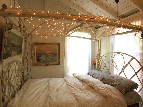 Bed Bedroom Cute Home Lights Image 358889 On