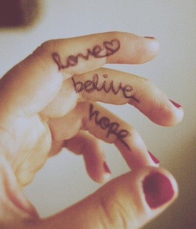 belive, finger, hand, heart, hope