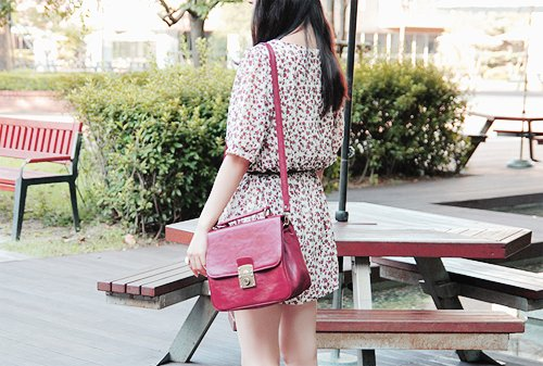 bench, cute, dress, fashion, floral