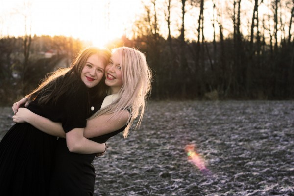 best, bff, blonde, brunette, clara, cold, cute, december, dreams, dress, eneqvist, forrest, friends, girls, happy, hug, laugh, laughing, light, lipstick, love, new year, pink, red, smile, sun, sweden, together, white, winter