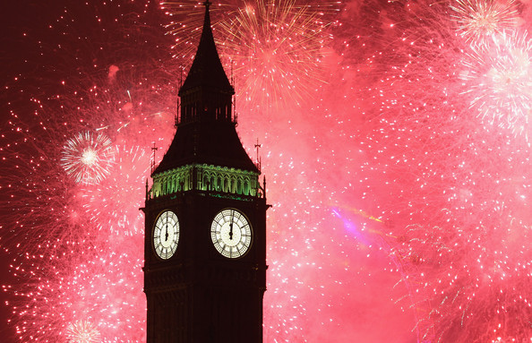 big ben, fireworks, london