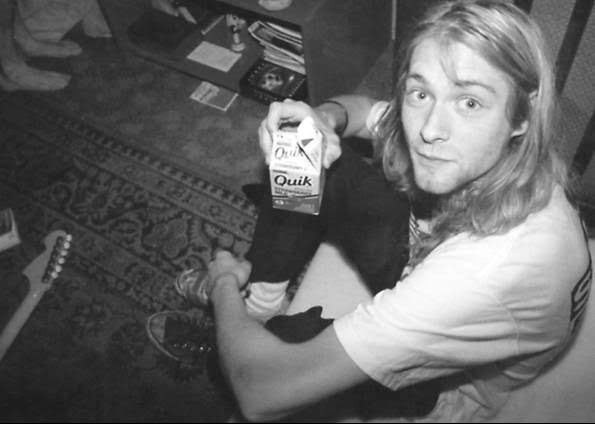 black and white, blonde, grunge, kurt cobain