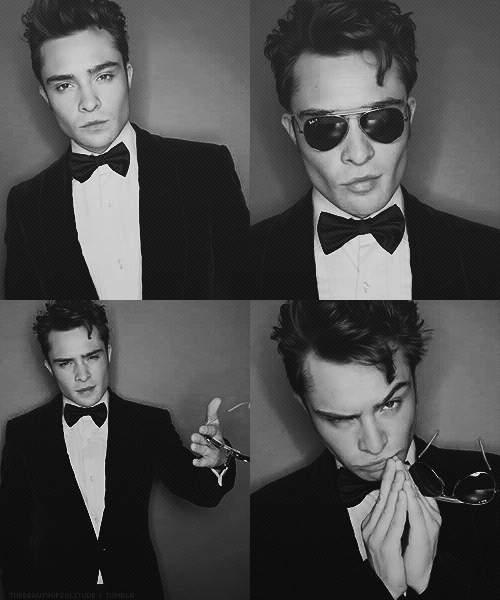 black and white, boy, chuck bass, cute, ed westwick, gossip girl, guy, hot, sexy