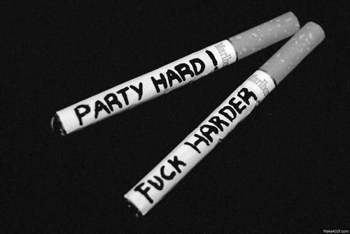 black and white, cigarettes, fuck, hard, harder