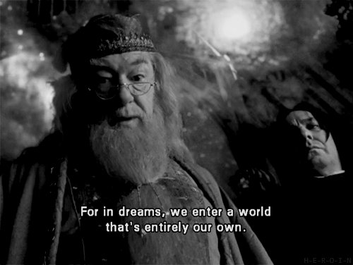 black and white, dreams, dumbledore, fantasy, harry potter