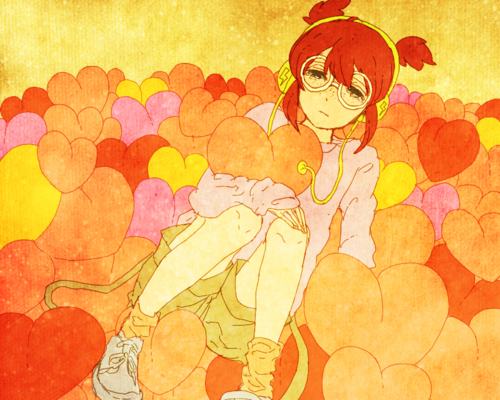 black, blue, brown, cry, cute, fondo, girl, green, hair, kawaii, lentes, pink, random, red, simple, smile, white, yellow
