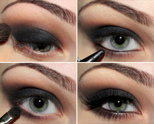 black, eyebrow, eyes, eyeshadow, fashion, green eyes, lashes, makeup, pretty, sexy, smokey, smokey eye, smokey eyes, style