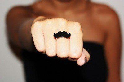 black, fingers, girl, hand, moustache