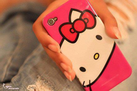 blackberry, bow, fashion, gabica, hello kitty