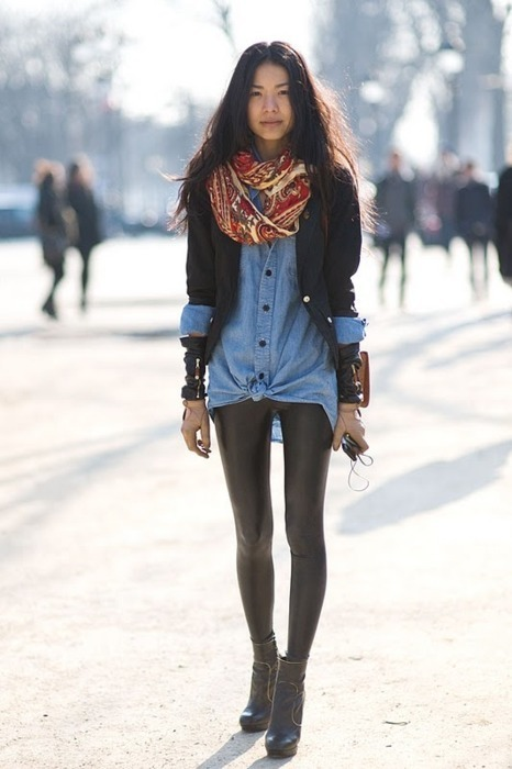 blazer, boots, denim, fashion, girl
