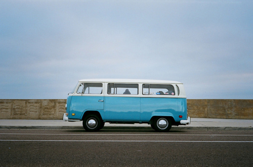 bleu, blue, car, caravan, cool