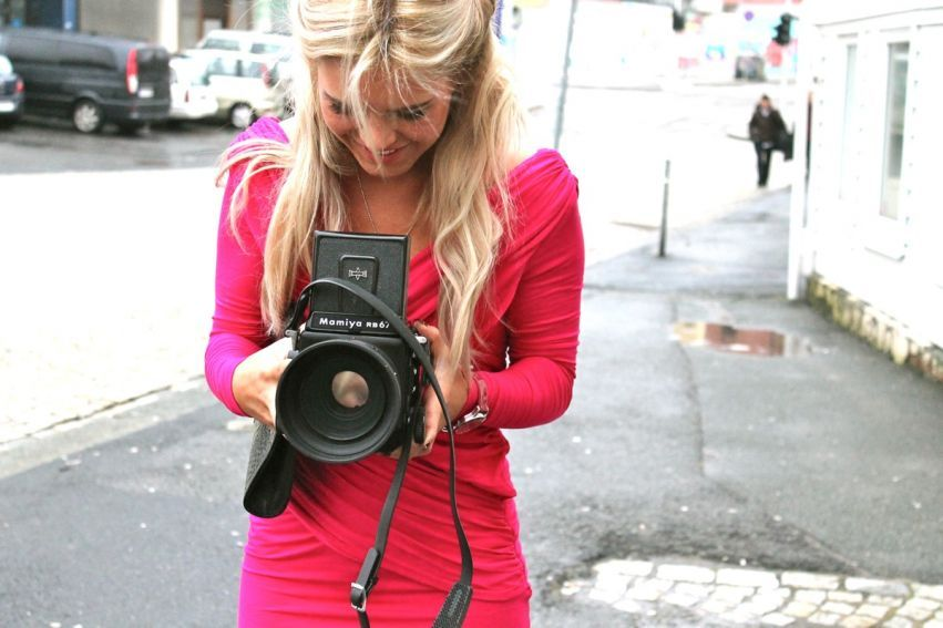 blog, blogger, camera, dress, fashion