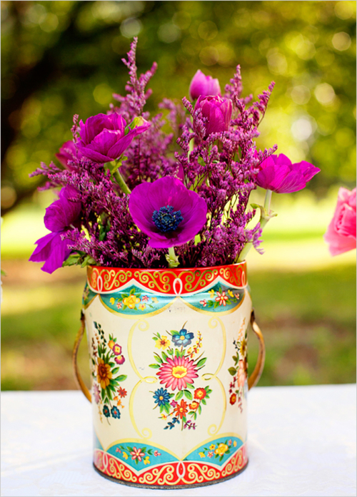 blue, bohemian, boho, colorful, flowers, garden, jug, lovely, photography, pink, purple, shabby chic, vase, vintage, wild