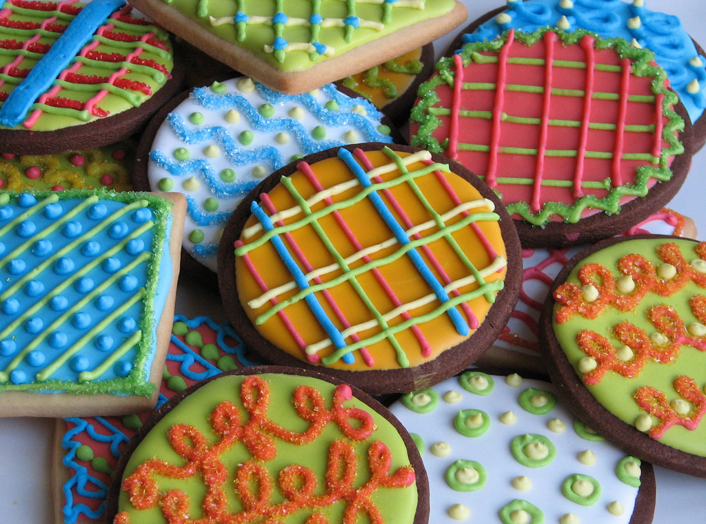 blue, chocolate, christmas, colorful, cookies