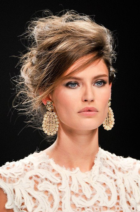 blue eyes, bun, cute, earrings, eye, eye shadow, eyes, face, fashion, hair, hairstyle, hot, makeup, pretty, sequins, style
