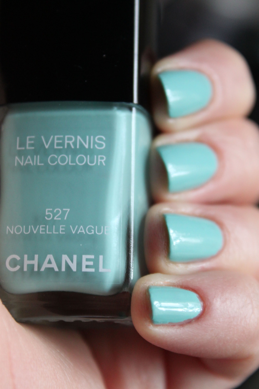 blue nails, chanel, nail polish, nails