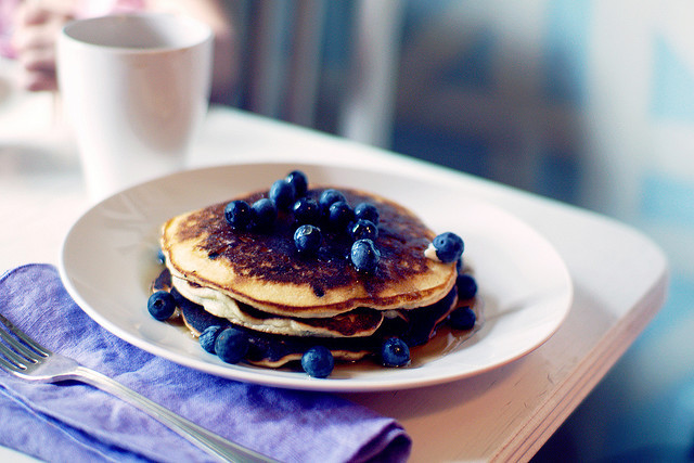 blueberry, breakfast, food, pancake, photography
