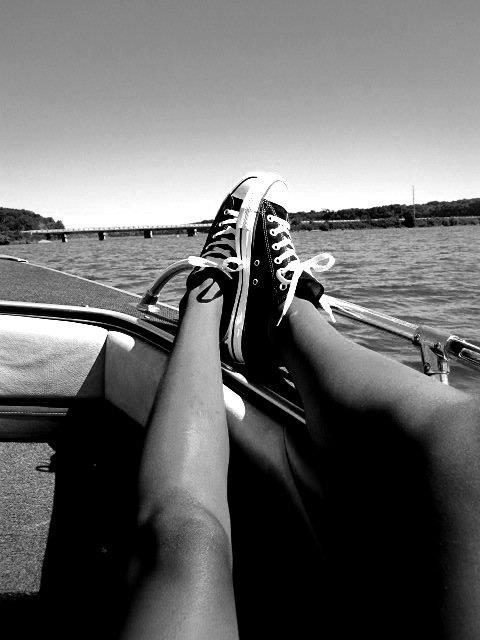 boat, converse, lake, legs, photography, shoes, water