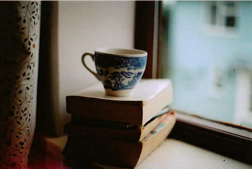 books, coffee, cup, tea