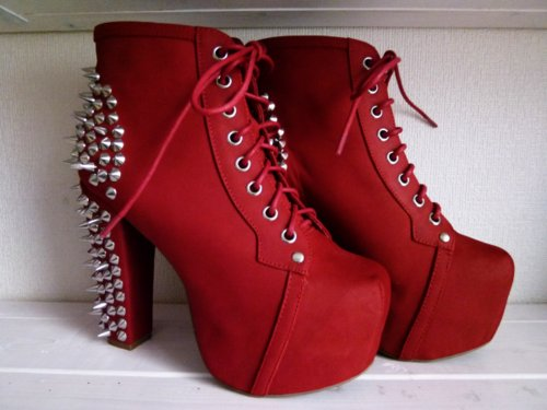 boots, fashion, jeffrey campbell, photography, red