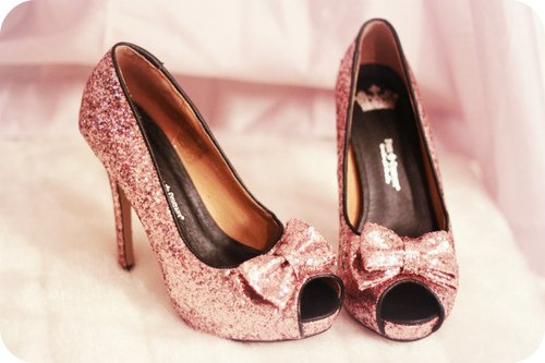 bow, cute, fashion, glitter, heel, shoe