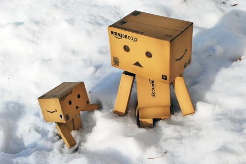 box robot, cute, danbo, parents