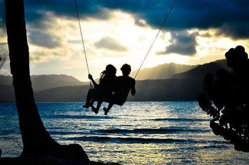 boy and girl, care, couple, happiness, love, romantic, sea, tender, twilight