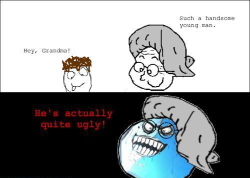 boy, comic, derp, grandma, i lied