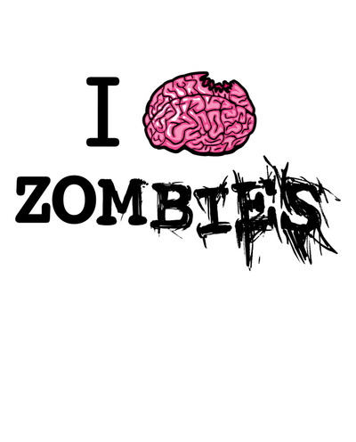 brain, text, typography, zombie