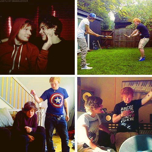 bromance, ed sheeran, harry styles, one direction