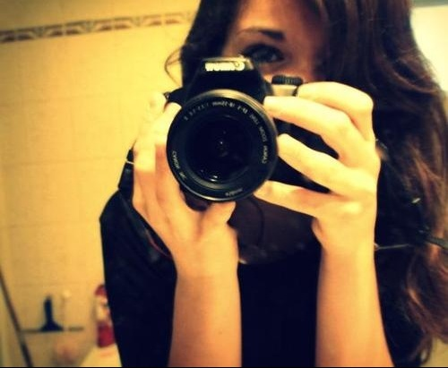 brunette, camera, emo, girl, hair