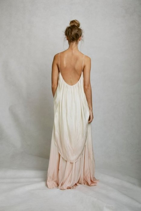 bun, dress, fashion, flowy dress, girl, gorgeous, gown, hairstyles, open back, stunning, tan, white